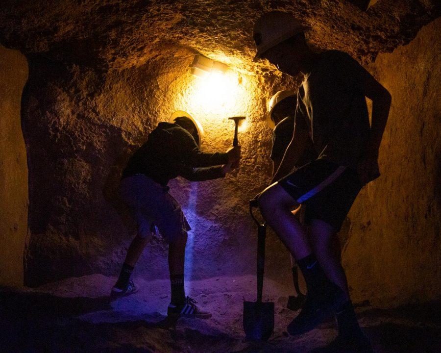 Kids mining at Irvine Ranch