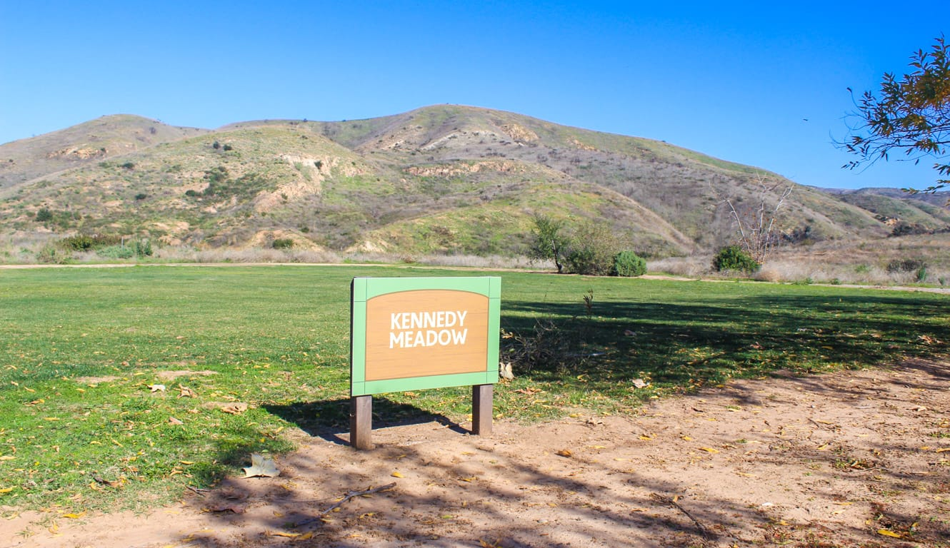 Sign at Kennedy Meadows camping area