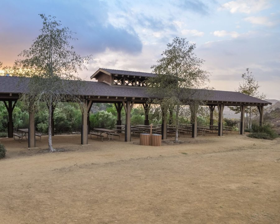 Outdoor Pavilion at sunset